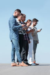 young people communicating in the social.networks.