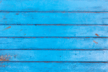 Old blue painted boards for use as a background