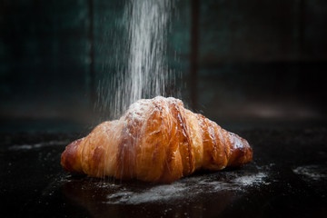 Tasty french croissants for breakfast