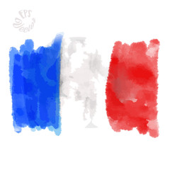 Flag of France painted Strokes