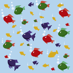 background picture with fishes