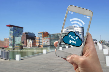 Smartphone Handy mit Wifi