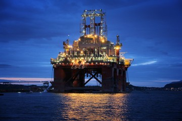 Drilling rig construction in Norway