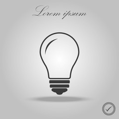 Vector black bulb on white background. Isolated. Eps 10.