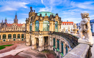 Zwinger palace, art gallery and museum in Dresden, Germany.