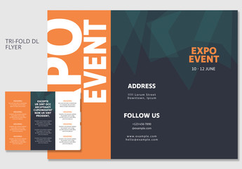 Orange and Green DL Trifold Brochure Layout 1