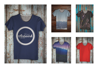 All-Over Print T-Shirt Mockup 1