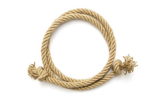 Circle rope frame
