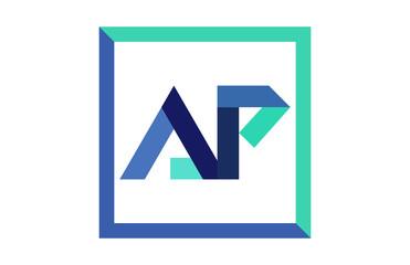 AP Square Ribbon Letter Logo