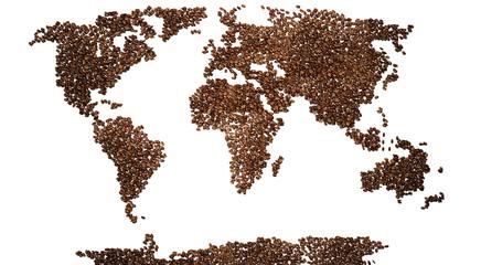 Mondo di caffè, illustrazione 3d