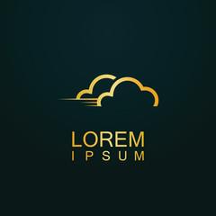 gold cloud speed logo
