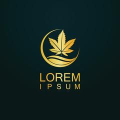 gold marijuana logo