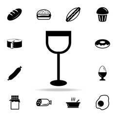 Wine glass icon. Detailed set of food and drink icons. Premium quality graphic design. One of the collection icons for websites, web design, mobile app