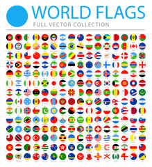 All World Flags - Vector Round Flat Icons