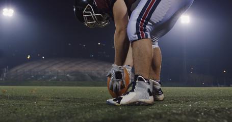 american football kicker ready for football kickoff