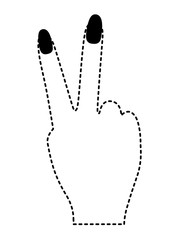 peace and love with fingers vector illustration design