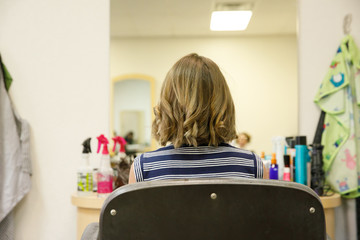 Girl's Haircut Cutting it All Off at Beauty Salon