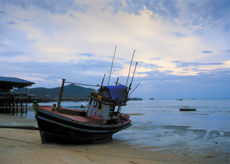 Fishing boat on a seashore, Thailand