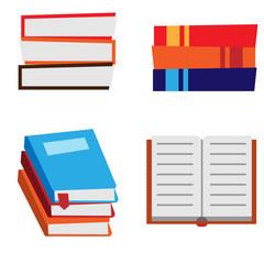 Book Set Vector Illustration
