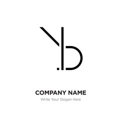 Abstract letter BR,RB logo design template, Black Alphabet initial letters company name concept. Flat thin line segments connected to each other