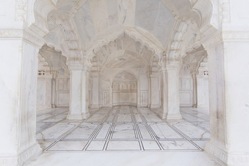 White marble at Agra Fort in Agra India