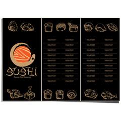 menu japan food sushi design template graphic
