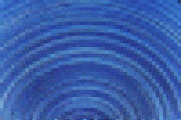 blue mosaic block