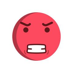 Angry emoticon. Vector smiley emoji icon