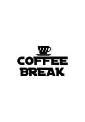 Coffee Break Illustration Logo Decor