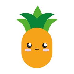 kawaii fruits design concept