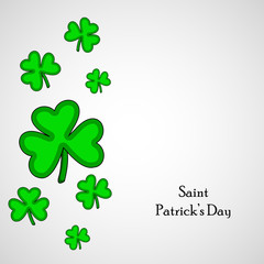 illustration of elements of St. Patricks Day background