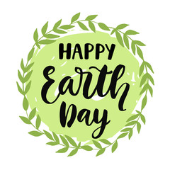 Happy Earth Day poster, banner, greeting card design