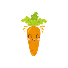 Vector carrot character