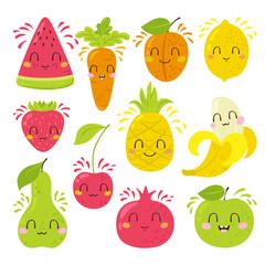 Fruit characters set