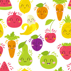 Fruit characters pattern