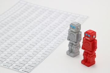 ロボットと数 人工知能イメージ