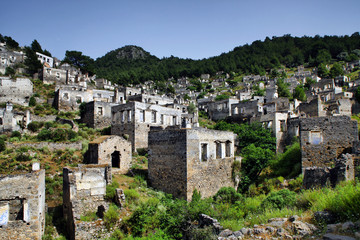 Kayakoy is an abandoned village in Fethiye, Turkey