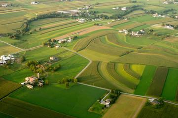 Aerial of Farmland Wall mural