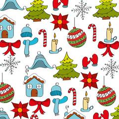 wallpaper decoration winter season icons vector illustration