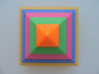 kaleidoscope geometric shapes on white background