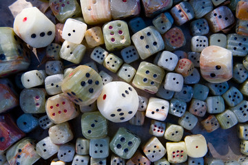 Dices made of stone for sale.