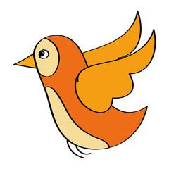 flying bird wild life natural animal vector illustration