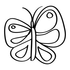 cute butterfly flying insect nature vector illustration outline design