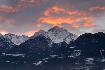 Sunrise in Aosta