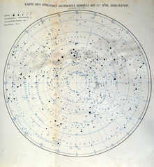 Constellations.German map 1908