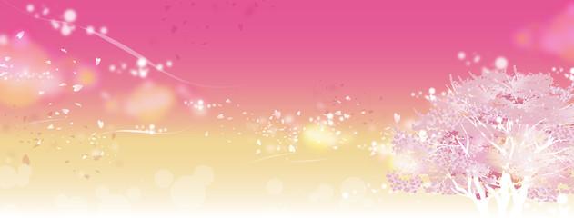 桜の木 ピンク キラキラ