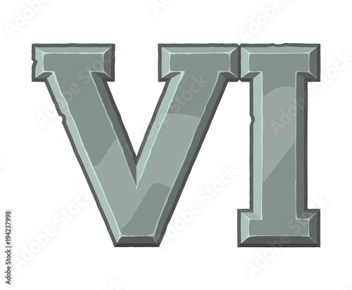 Roman Numerals Made From Rock Ancient Stone Carved Numbers Old