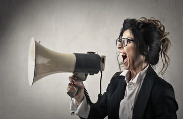 Shouting a message