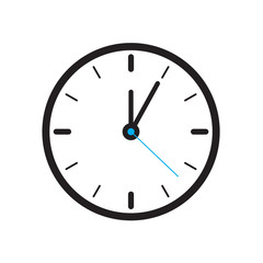 Clock Icon Isolated on White Background