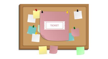 Pinnwand - Eintrittskarte